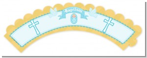 Baby Boy - Baptism / Christening Cupcake Wrappers
