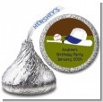 Baseball - Hershey Kiss Birthday Party Sticker Labels thumbnail