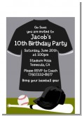 Baseball Jersey Black and White - Birthday Party Petite Invitations