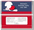 Baseball Jersey Blue and Red - Personalized Birthday Party Candy Bar Wrappers thumbnail