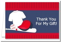 Baseball Jersey Blue and Red - Birthday Party Thank You Cards
