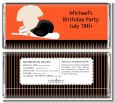 Baseball Jersey Orange and Black - Personalized Birthday Party Candy Bar Wrappers thumbnail