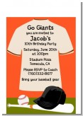Baseball Jersey Orange and Black - Birthday Party Petite Invitations