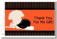 Baseball Jersey Orange and Black - Birthday Party Thank You Cards thumbnail