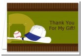 Baseball - Birthday Party Thank You Cards