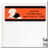 Baseball Jersey Orange and Black - Birthday Party Return Address Labels