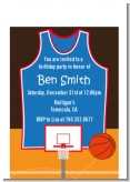 Basketball - Birthday Party Petite Invitations