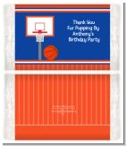 Basketball Jersey Blue and Orange - Personalized Popcorn Wrapper Birthday Party Favors