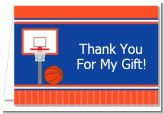Basketball Jersey Blue and Orange - Birthday Party Thank You Cards