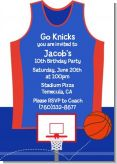Basketball Jersey Blue and Red - Birthday Party Invitations