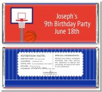 Basketball Jersey Blue and Red - Personalized Birthday Party Candy Bar Wrappers