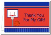 Basketball Jersey Blue and Red - Birthday Party Thank You Cards
