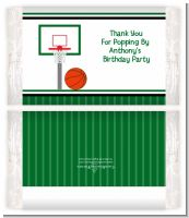 Basketball Jersey Green and White - Personalized Popcorn Wrapper Birthday Party Favors