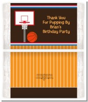 Basketball - Personalized Popcorn Wrapper Birthday Party Favors