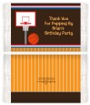 Basketball - Personalized Popcorn Wrapper Birthday Party Favors thumbnail