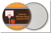 Basketball - Personalized Birthday Party Pocket Mirror Favors