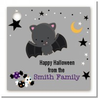 Bat - Personalized Halloween Card Stock Favor Tags