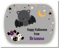 Bat - Personalized Halloween Rounded Corner Stickers