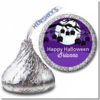 Bats On A Branch - Hershey Kiss Halloween Sticker Labels