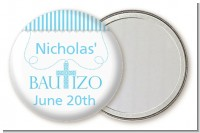 Bautizo Cross Blue - Personalized Baptism / Christening Pocket Mirror Favors