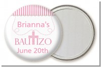 Bautizo Cross Pink - Personalized Baptism / Christening Pocket Mirror Favors