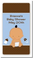 Baby Boy Hispanic - Custom Rectangle Baby Shower Sticker/Labels