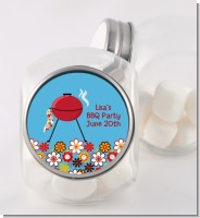 BBQ Grill - Personalized Birthday Party Candy Jar
