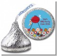 BBQ Grill - Hershey Kiss Birthday Party Sticker Labels thumbnail