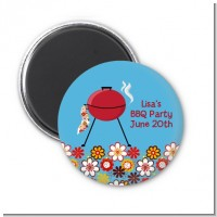 BBQ Grill - Personalized Birthday Party Magnet Favors