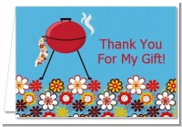 BBQ Grill - Birthday Party Thank You Cards
