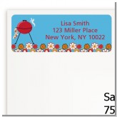 BBQ Grill - Birthday Party Return Address Labels