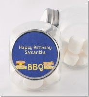 BBQ Hotdogs and Hamburgers - Personalized Birthday Party Candy Jar