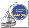 BBQ Hotdogs and Hamburgers - Hershey Kiss Birthday Party Sticker Labels thumbnail