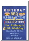 BBQ Hotdogs and Hamburgers - Birthday Party Petite Invitations
