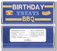 BBQ Hotdogs and Hamburgers - Personalized Birthday Party Candy Bar Wrappers thumbnail