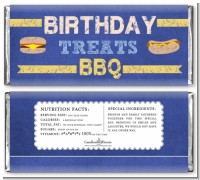 BBQ Hotdogs and Hamburgers - Personalized Birthday Party Candy Bar Wrappers