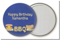 BBQ Hotdogs and Hamburgers - Personalized Birthday Party Pocket Mirror Favors