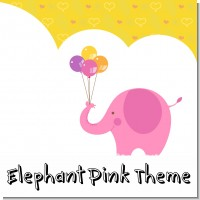 Elephant Pink Birthday Party Theme