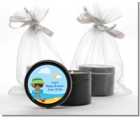 Beach Baby African American Boy - Baby Shower Black Candle Tin Favors