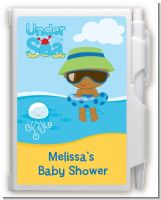 Beach Baby African American Boy - Baby Shower Personalized Notebook Favor