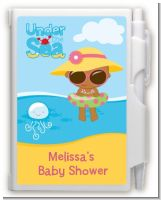 Beach Baby African American Girl - Baby Shower Personalized Notebook Favor