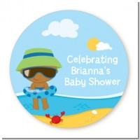Beach Baby African American - Personalized Baby Shower Table Confetti