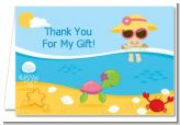Beach Baby Asian Girl - Baby Shower Thank You Cards