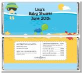Beach Baby Boy - Personalized Baby Shower Candy Bar Wrappers