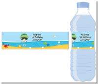 Beach Boy - Personalized Birthday Party Water Bottle Labels