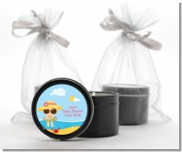 Beach Baby Girl - Baby Shower Black Candle Tin Favors