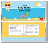 Beach Baby Girl - Personalized Baby Shower Candy Bar Wrappers