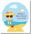 Beach Baby Girl - Personalized Baby Shower Centerpiece Stand thumbnail