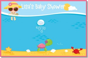 Beach Baby Girl - Personalized Baby Shower Placemats