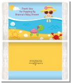 Beach Baby Girl - Personalized Popcorn Wrapper Baby Shower Favors